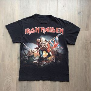Vintage Tops - 90's Vintage Iron Maiden The Trooper Rock Tee